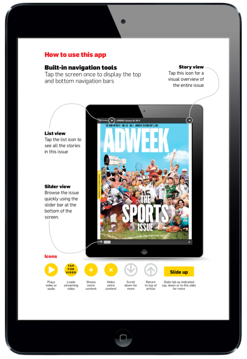 Adweek Magazine for iPad. Navigation Page #digitalmagazine