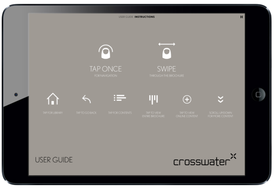 Crosswater Magazine for iPad. Navigation Page #digitalmagazine