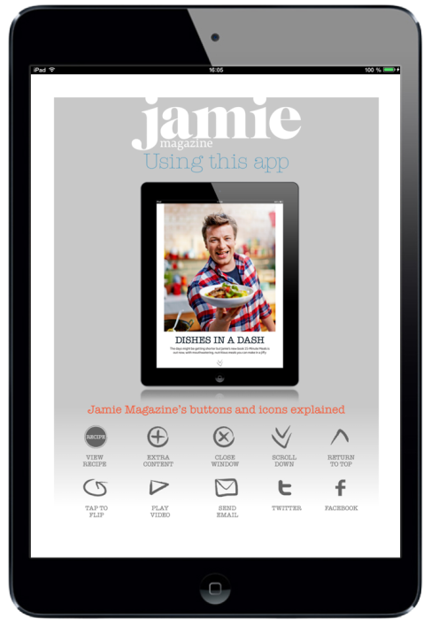 Jamie Magazine for iPad. Navigation Page #digitalmagazine