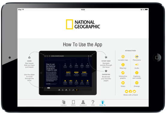 National Geographic Magazine for iPad. Navigation Page #digitalmagazine