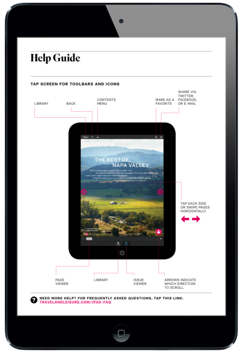 Travel and Leisure Magazine for iPad. Navigation Page #digitalmagazine