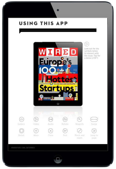 WIRED Magazine for iPad. Navigation Page #digitalmagazine