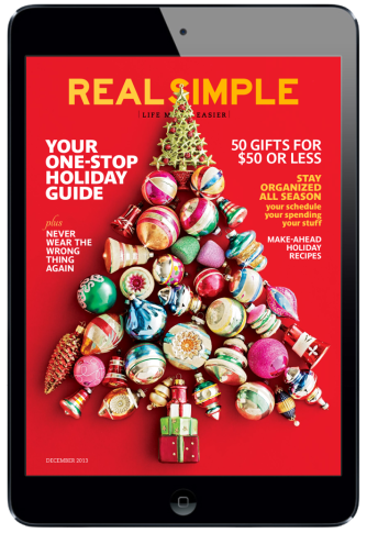 Real Simple Magazine for iPad. #digitalmagazine