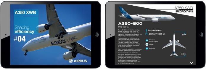 A350 XWB iPad Magazine