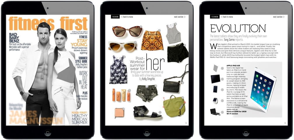 Fitness First iPad Magazine
