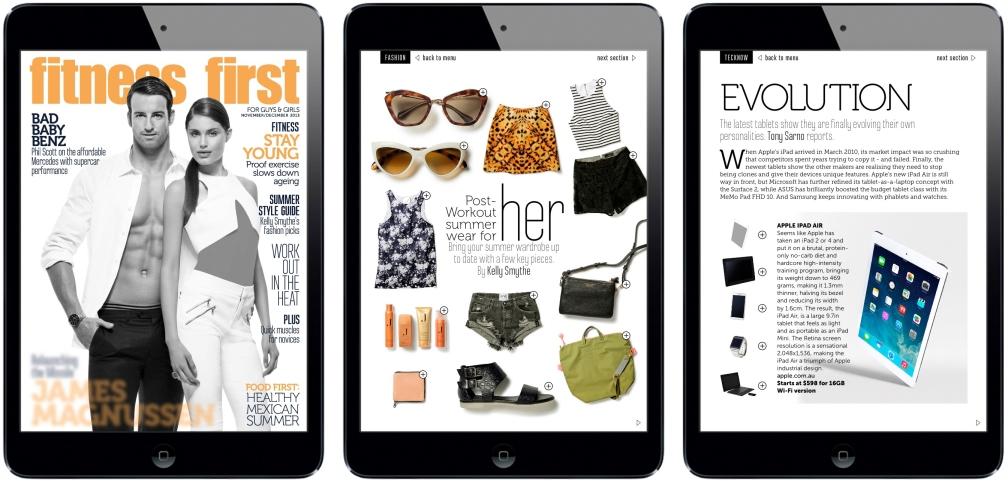Fitness First iPad Magazine