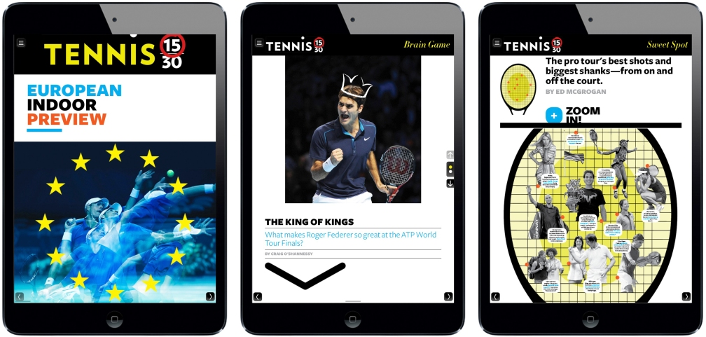 Tennis 15-30 iPad Magazine