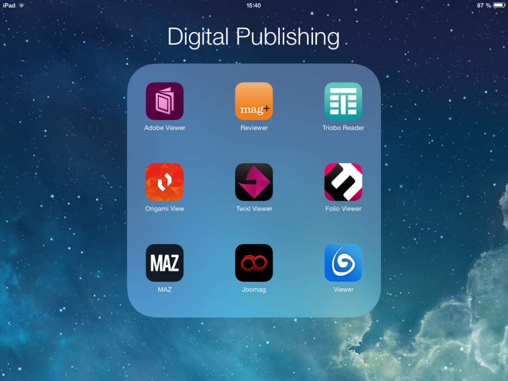 Digital Publishing platforms