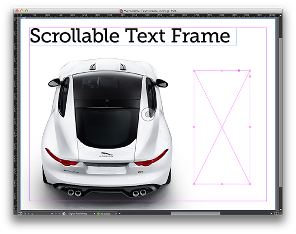 Create a Scrollable Text Frame in Adobe DPS