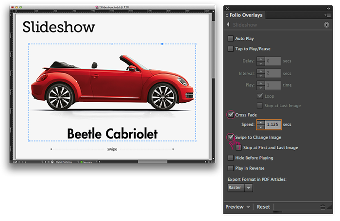 Create Slideshow in Adobe DPS in 10 Easy Steps