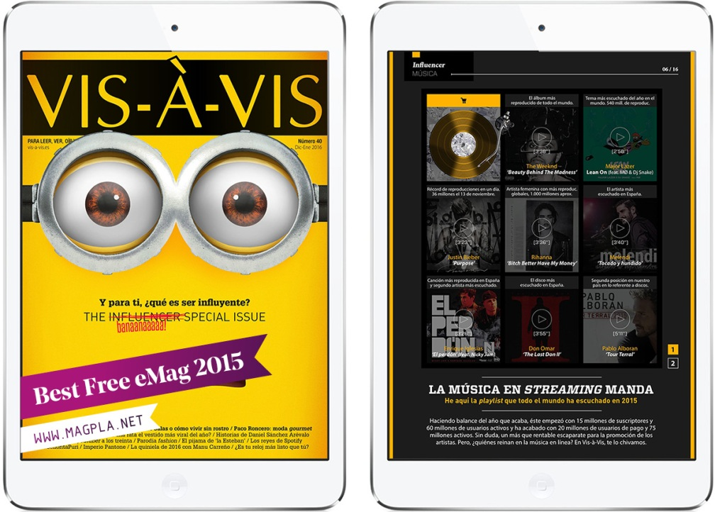 www.MagPla.net Revista Vis-à-Vis. Best Free eMag of 2015